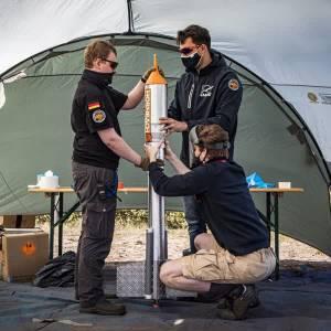 TU Delft studenten lanceren succesvol een Hornbach raket