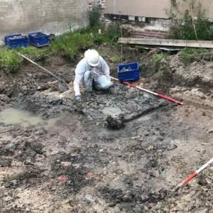 Archeologische opgravingen bij Kruisstraat op plaats van nieuw appartementencomplex