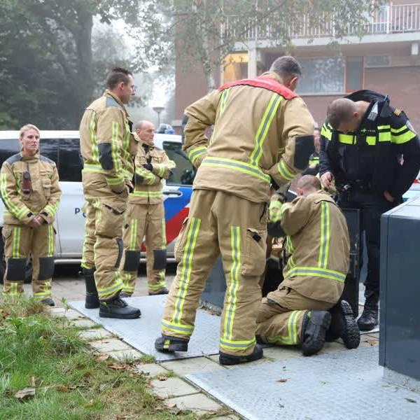Hulpdiensten massaal uitgerukt vanwege melding 'baby in ondergrondse container Delft'