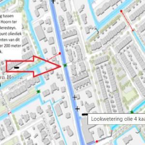 Stemmingen vaarverkeer tussen Delft en Den Hoorn door olievervuiling