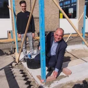 Leerlingen bouwen twee tiny houses op Stanislas college