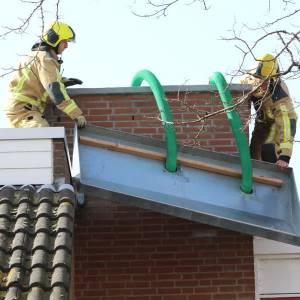 Brandweer Delft druk door storm Evert
