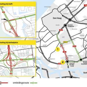Afsluiting Ketheltunnel A4 zaterdag 7 november