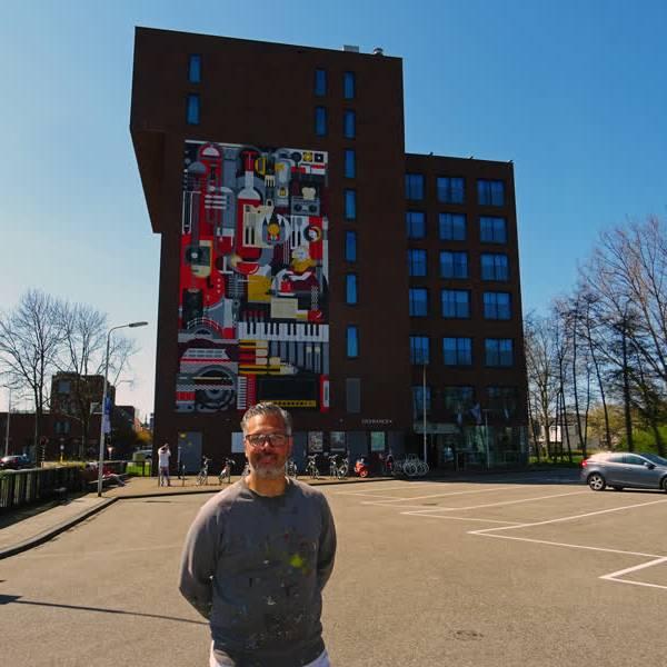 Streetart kleurt Hamshire Hotel